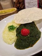 Saag chicken curry